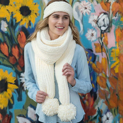 Loom Knit Headband And Super Scarf Allfreeknitting