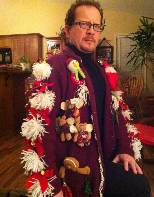 deck the arms homemade ugly christmas sweater allfreechristmascraftscom
