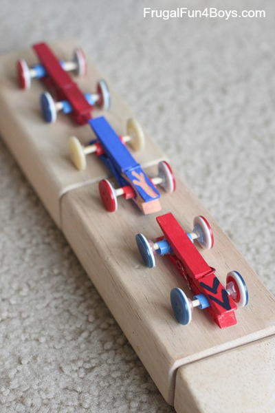 Simple Clothespin and Button Cars Craft