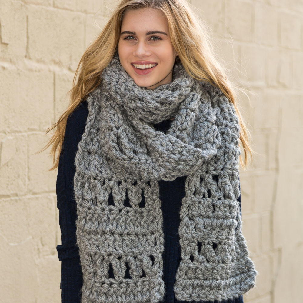 Foggy Crochet Super Scarf Allfreecrochet