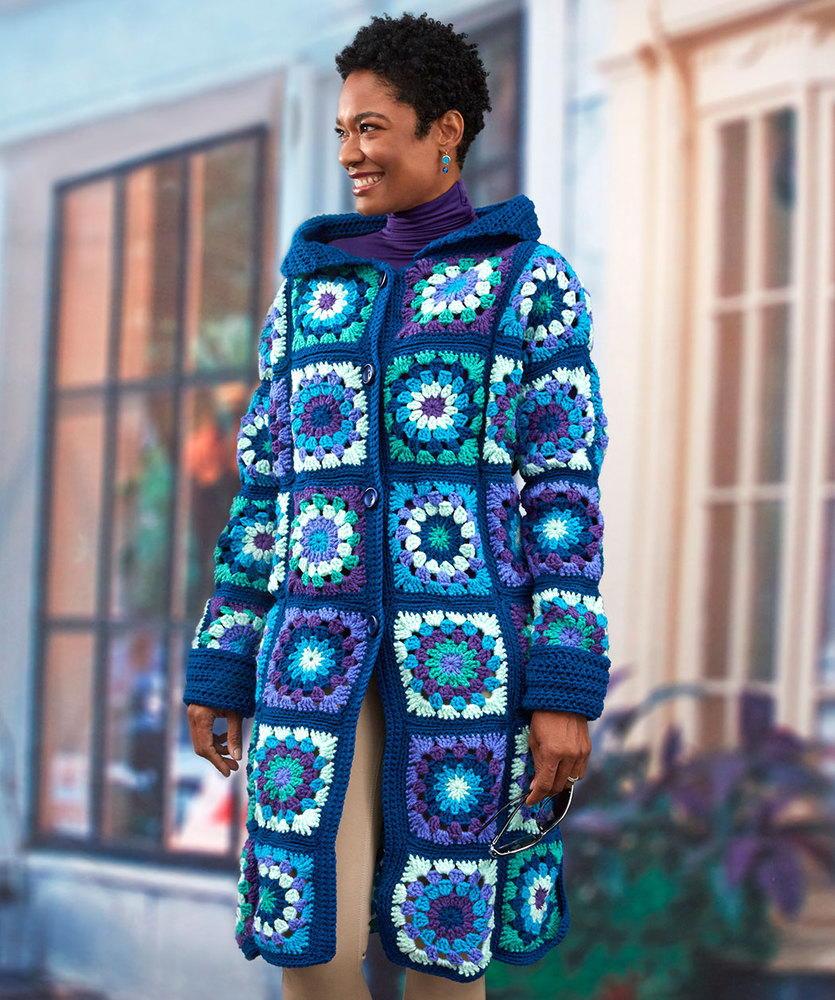 Glam Crochet Granny Coatigan Allfreecrochet