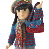 Darling Knit Doll Pullover and Shoulder Bag