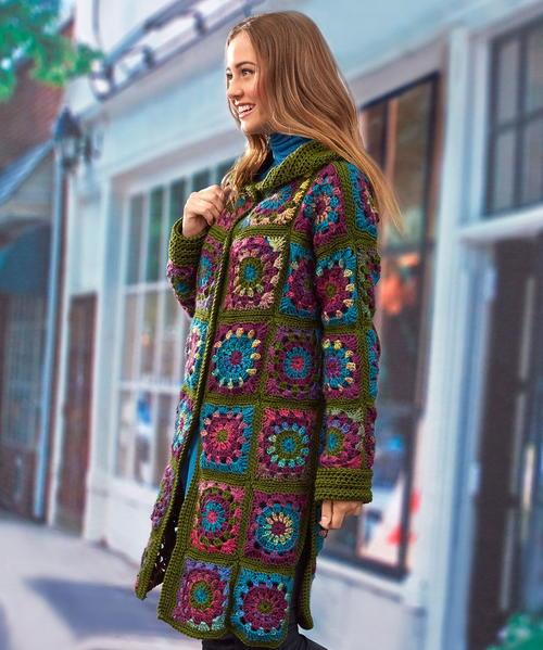 Vintage Blooms Crochet Coatigan Allfreecrochet Com