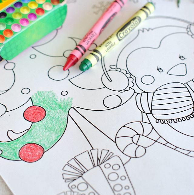 Christmas Characters Printable Coloring Pages | AllFreePaperCrafts.com