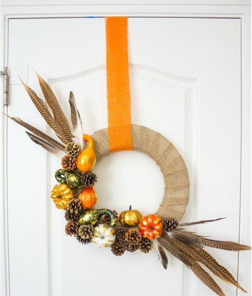 Rustic Amish DIY Fall Wreath