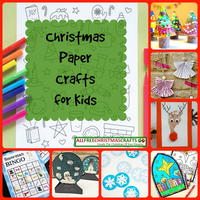 25 Christmas Paper Crafts for Kids