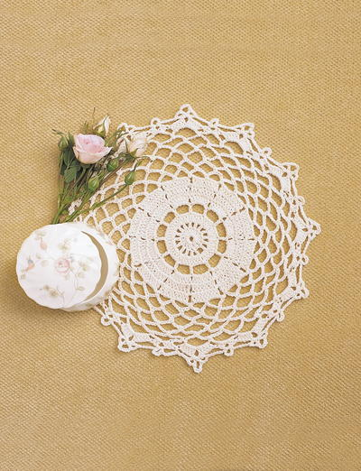 13 free crochet doily patterns for beginners favecrafts pretty doily crochet pattern ccuart Gallery