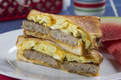 Sausage n Egg Grilled Cheese