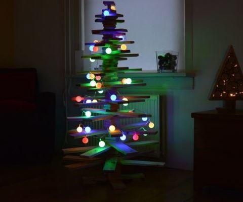 diy christmas light balls - How To Make Christmas Light Balls