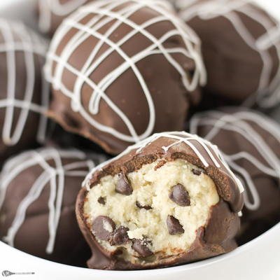Edible Cookie Dough Truffles