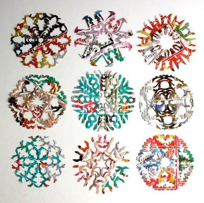 Junk Mail Paper Snowflakes