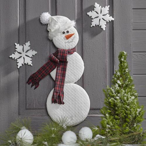 Snowman Door Decor & Snowman Door Decor | FaveCrafts.com