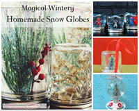 21 Magical Wintery Homemade Snow Globes