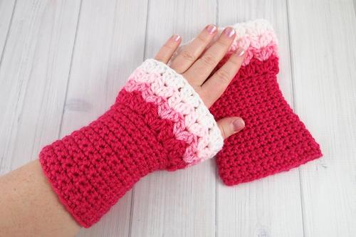 Sweetheart Crochet Wrist Warmers Allfreecrochet