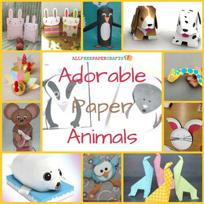 Adorable Paper Animals 30 Animal Crafts