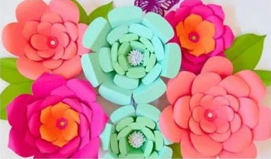Easy diy paper flowers favecrafts easy diy paper flowers mightylinksfo