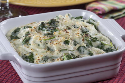 Creamed Cauliflower Spinach
