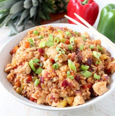 Sweet  Sour Chicken Fried Rice