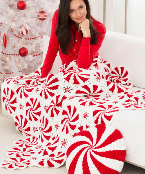 Peppermint Bliss Throw and Pillow