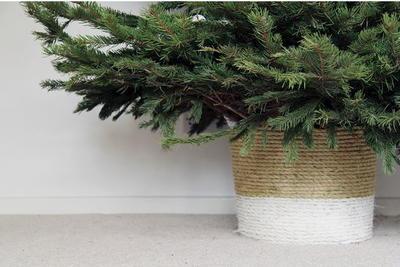christmas tree diy rope basket