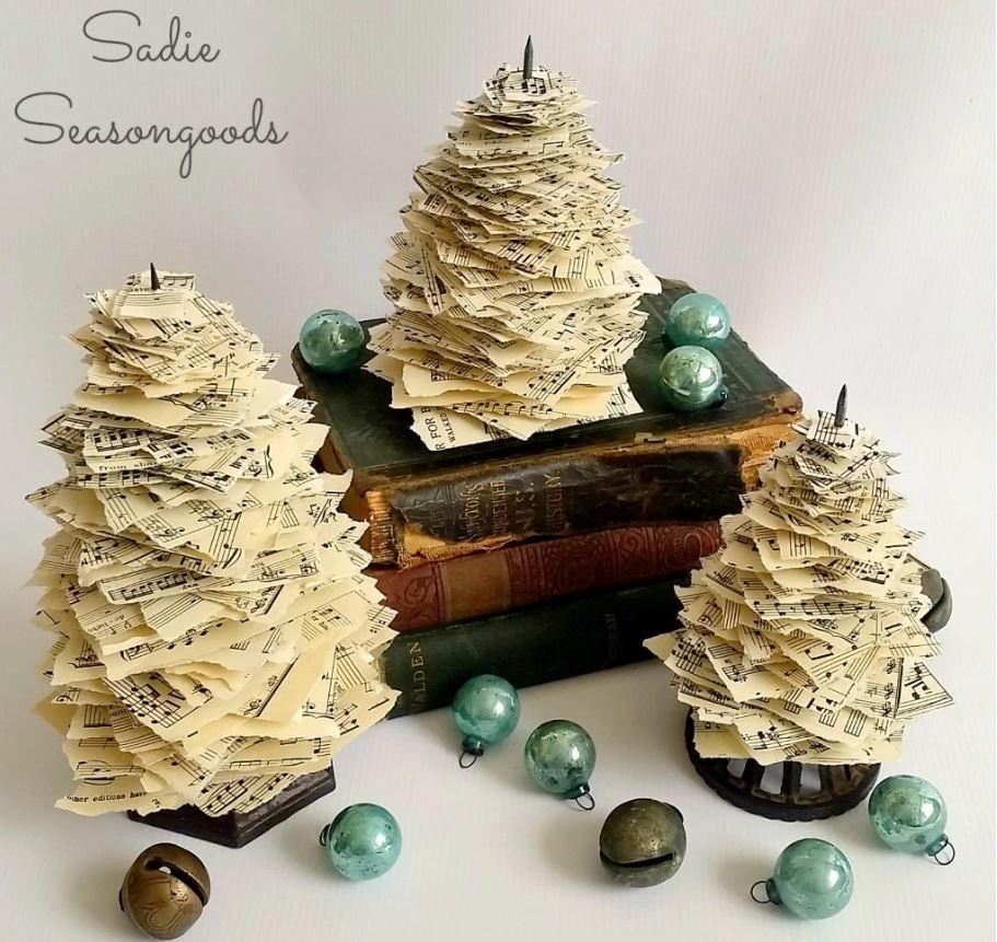 unique paper christmas tree diyideacentercom - Old Fashioned Paper Christmas Decorations