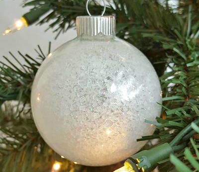 Frosted Glass Design Homemade Ornaments