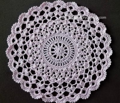 Simple Round Crochet Tablecloth Patterns 3d House Drawing