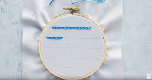 Chain Stitch Embroidery Technique