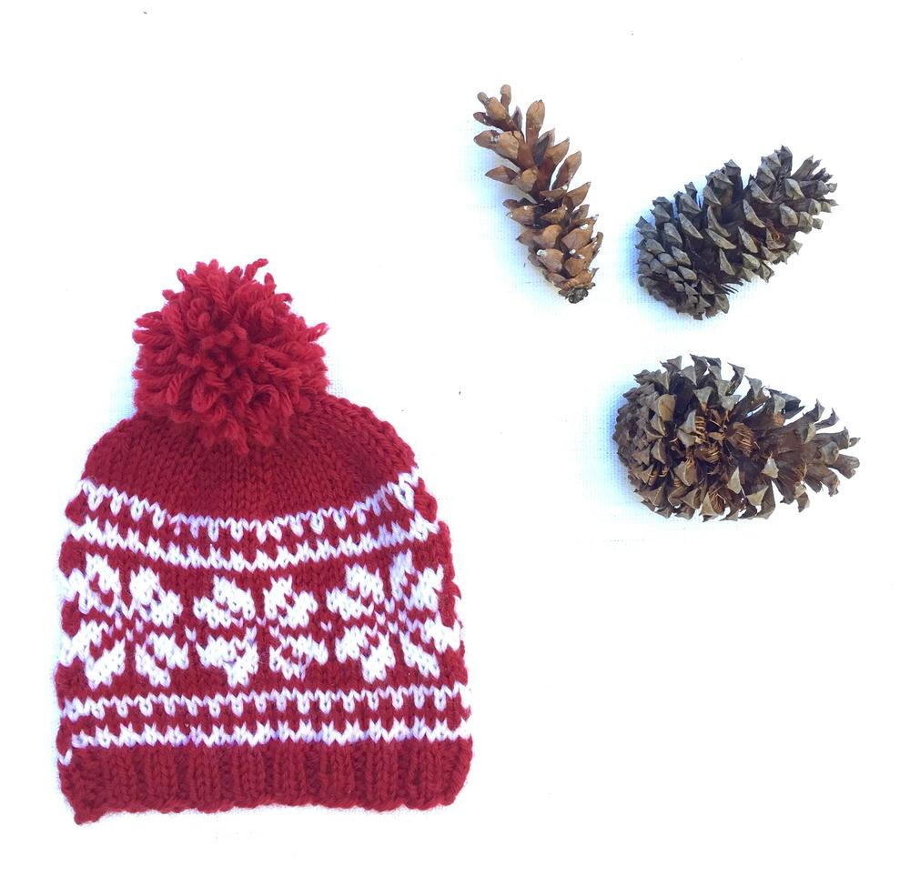 Baby Snowflake Hat | AllFreeKnitting.com