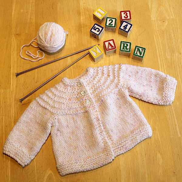 5 Hour Knit Baby Sweater Allfreeknitting