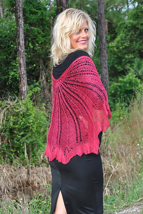 Razor Shell Knit Shawl