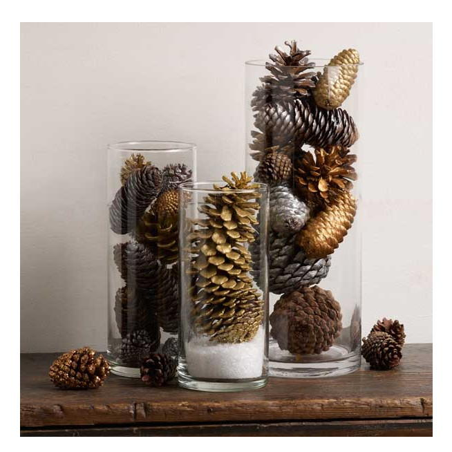 Glittering Pine Cone Table Decorations Diyideacenter