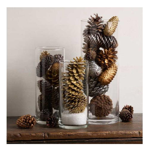 Pine cone easy table decoration - Crafty winter decorations with pine cones ...