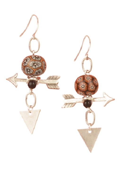 Aim Straight Handmade Earrings | AllFreeJewelryMaking.com