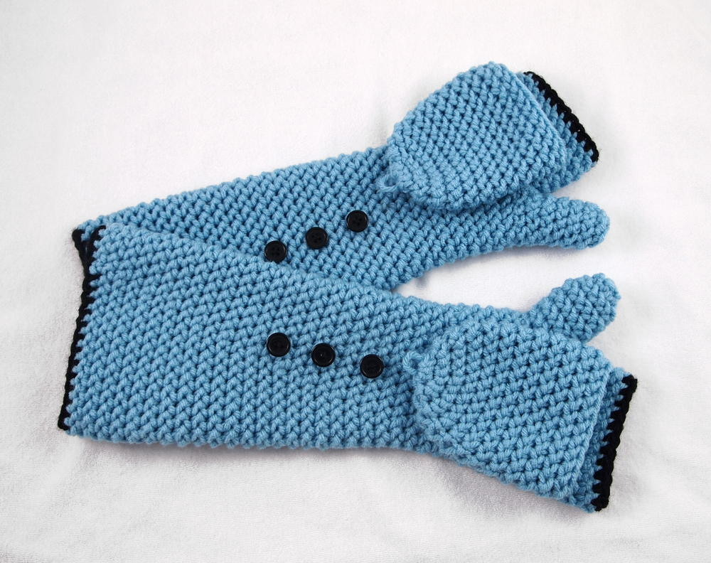 Cosmic Convertible Crochet Fingerless Gloves | AllFreeCrochet.com