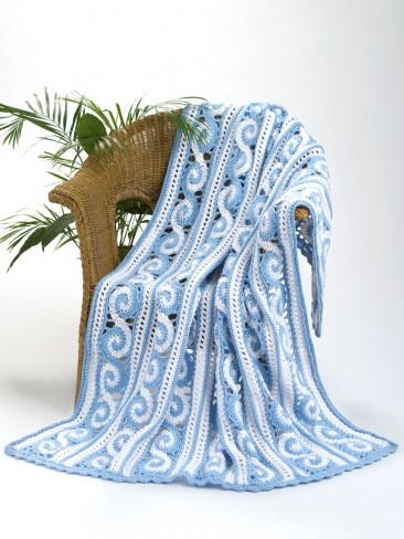 Victorian Spirals Crochet Throw Allfreecrochetafghanpatterns