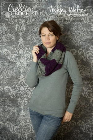 Easy Striped Cowl