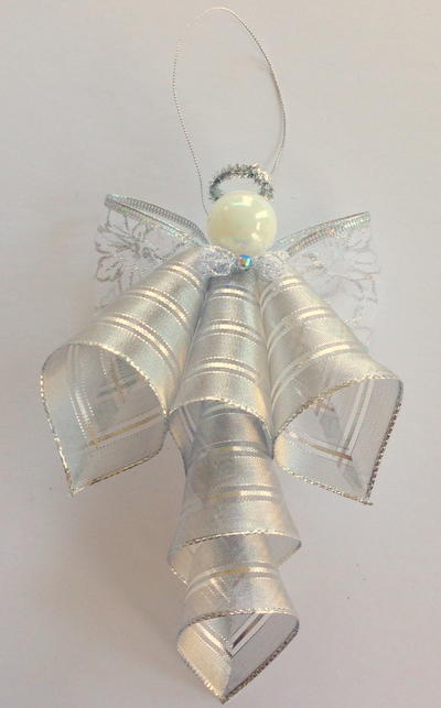 Ribbon Angel Ornament