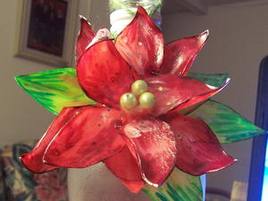 Tea Jug Poinsettia Ornament