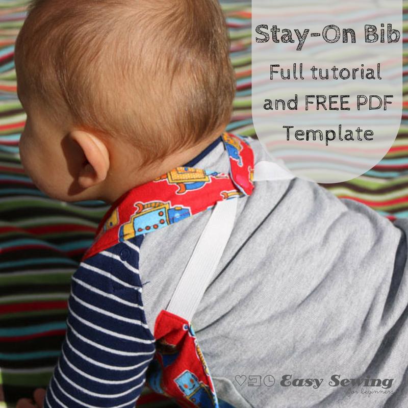 Reversible Stay-On Bib Pattern | AllFreeSewing.com