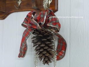 Holiday Pine Cone Hanger