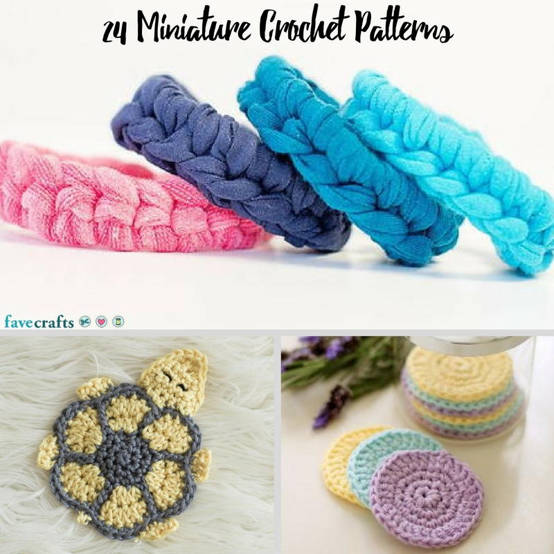 24 miniature crochet patterns for Crochet crafts for kids