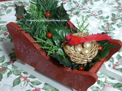 christmas sleigh home decor - Decorative Christmas Sleigh Large