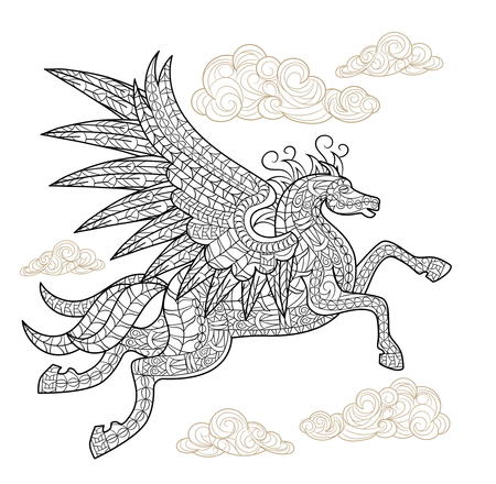 Playful Pegasus Coloring Page FaveCraftscom