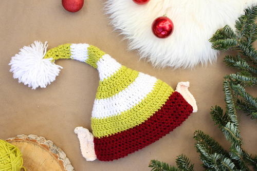Santas Little Helper Elf Hat Pattern Allfreeholidaycrafts