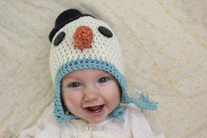 Baby Snowman Easy Crochet Hat