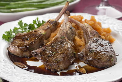 64 easy dinner recipes for two mrfood balsamic grilled lamb chops forumfinder Image collections