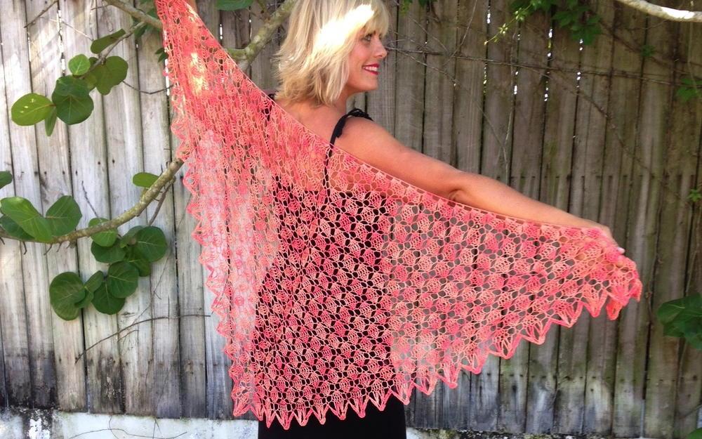 Be So Fine Key West Crochet Lace Shawl Allfreecrochet