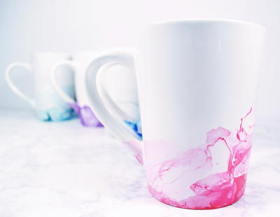 Marbled DIY Mugs