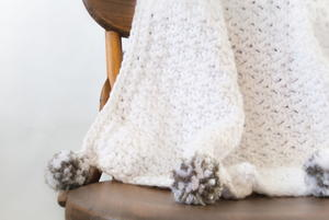 The Loft Pom Baby Blanket